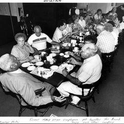Former Hotel Utah employees meet regularly to remember days of elegance. July 20, 1991.