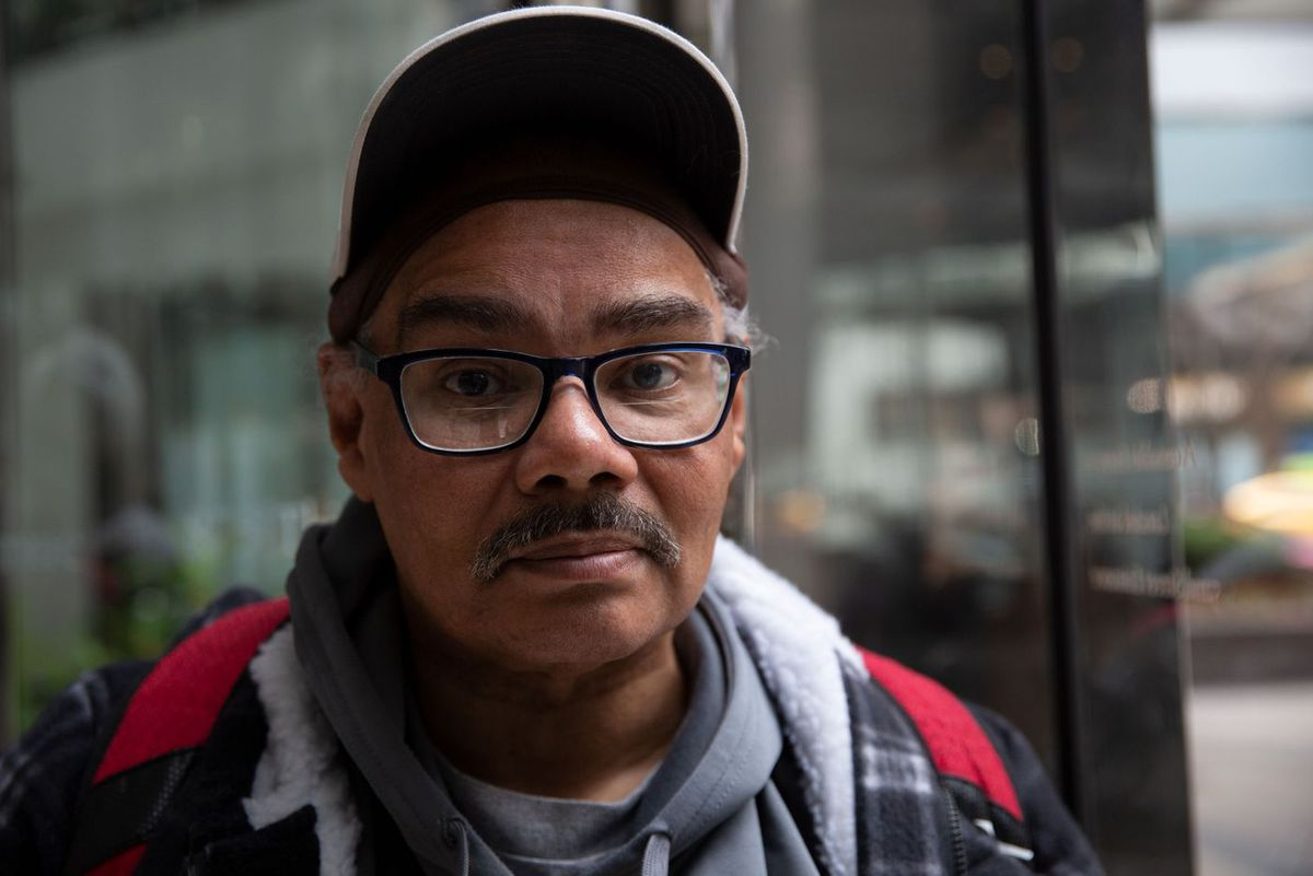 Peter Malvan helps other homeless people get services and vital necessities.