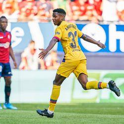 Ansu Fati becomes Barcelona's youngest La Liga goalscorer.