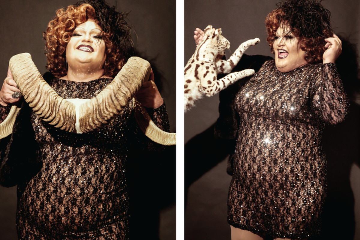 """Photos by <a href=""""http://abbywilcox.com"""">Abby Wilcox</a> via <a href=""""http://www.thebolditalic.com/articles/4399-drag-queens-and-taxidermy-awesome-photos"""">The Bold Italic</a>"""