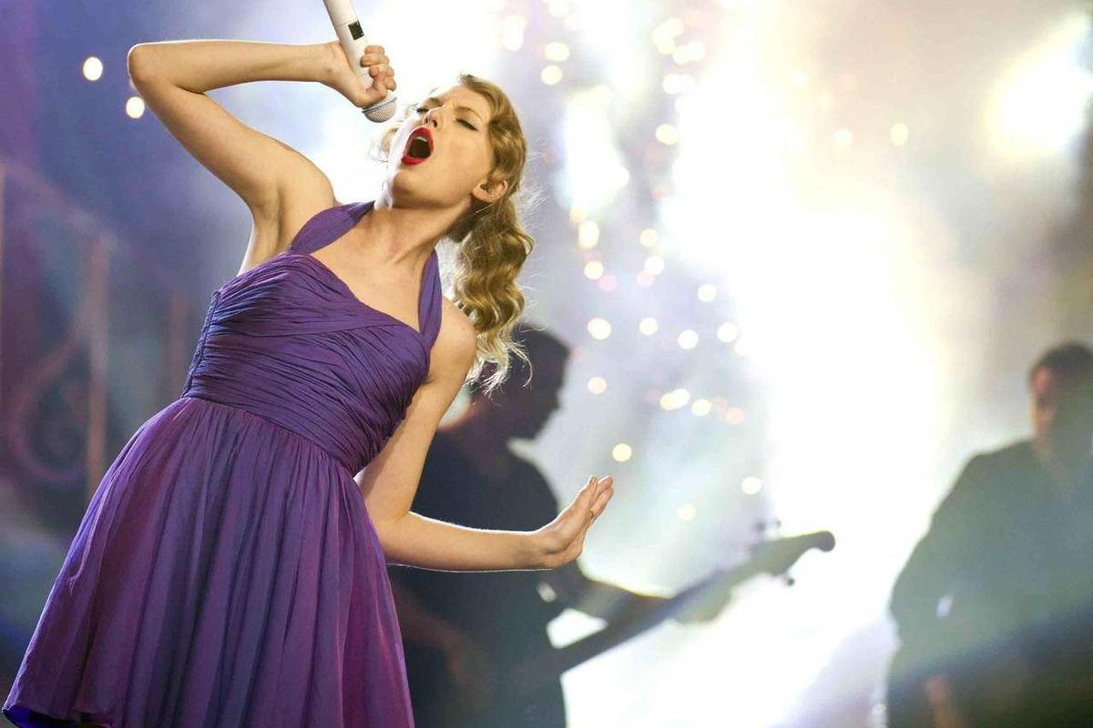 FILE - This Nov. 22, 2011 file photo shows singer Taylor Swift performing at Madison Square Garden in New York. Swift will be among many top performers at the iHeartRadio Music Festival in Las Vegas this weekend. The two-day festival at the MGM Grand feat