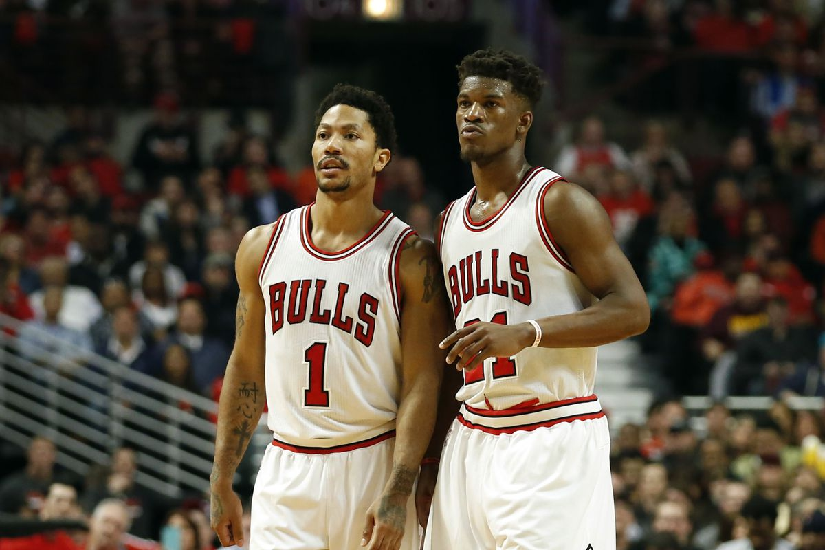 74ff05a70a68 Were Jimmy Butler and Derrick Rose actually feuding in the Bulls  elimination game  New ...