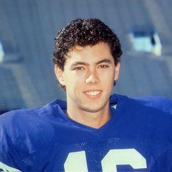BYU kicker Jason Chaffetz, pictured November 1989.