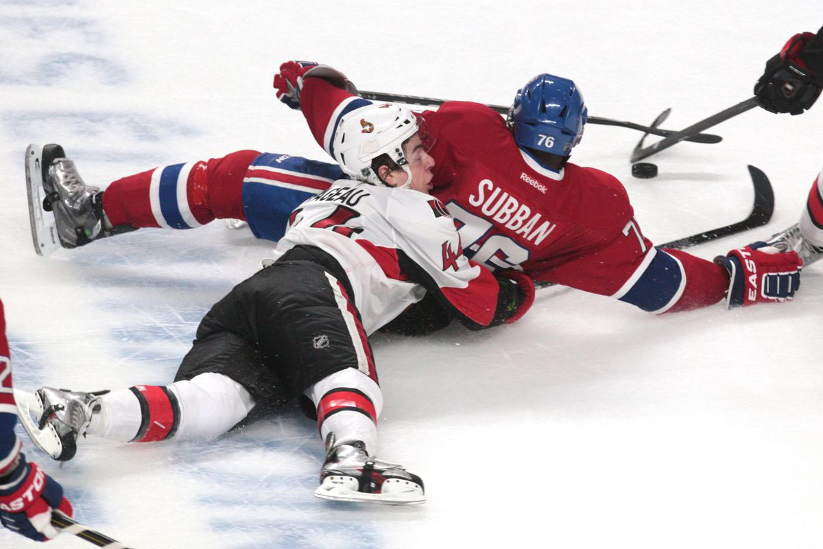 Pageau and Subban each attempt their best impressions of Montreal's appearance in the 2013 playoffs.