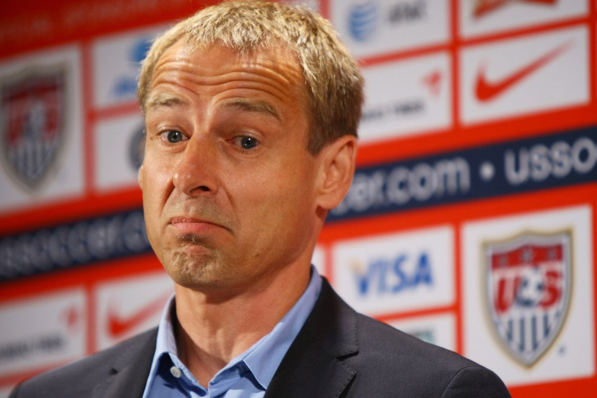 NEW YORK, NY - AUGUST 01:  Klinsmann hopes some of the USMNT U18s come good. (Photo by Neilson Barnard/Bongarts/Getty Images)