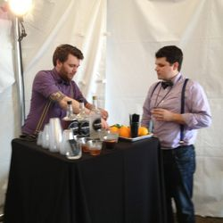 Bartenders at the Eater Lounge