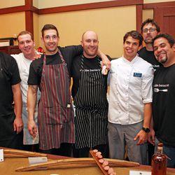 Hosea Rosenberg and the Blackbelly Catering team