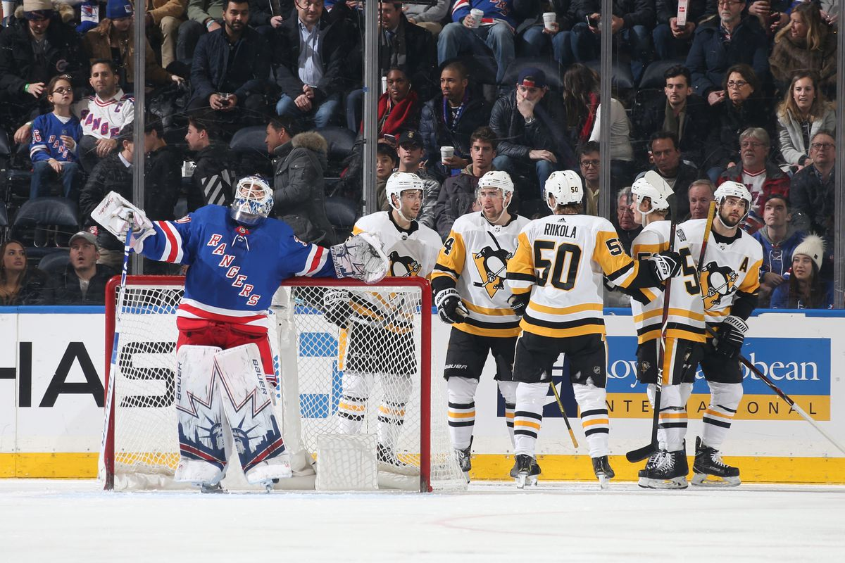 Rangers vs Penguins  Rangers Blown Out on Home Ice By Penguins 7-2 ... 38001878b