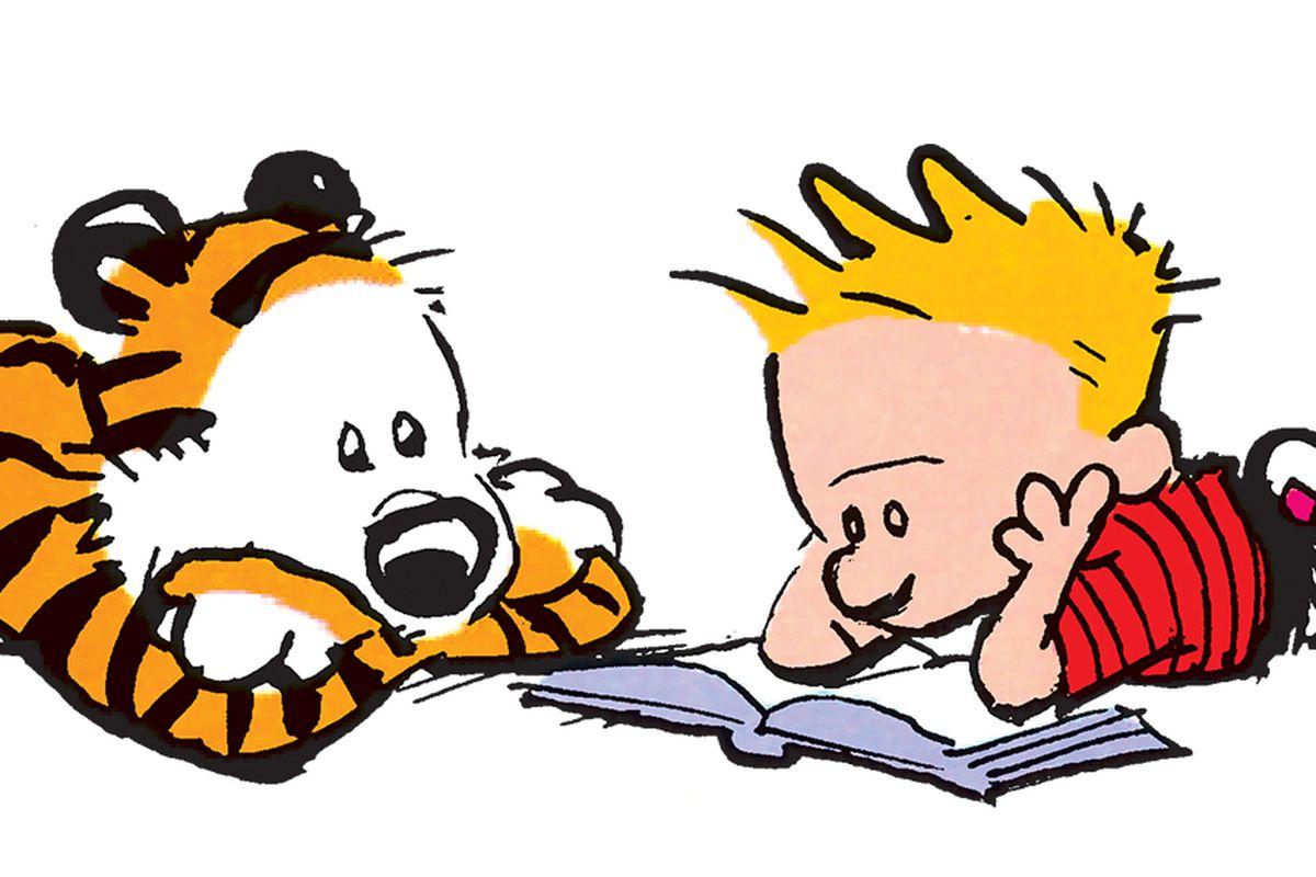 hobbes and calvin read a book