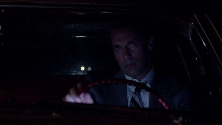 Don goes off to look for America on Mad Men.