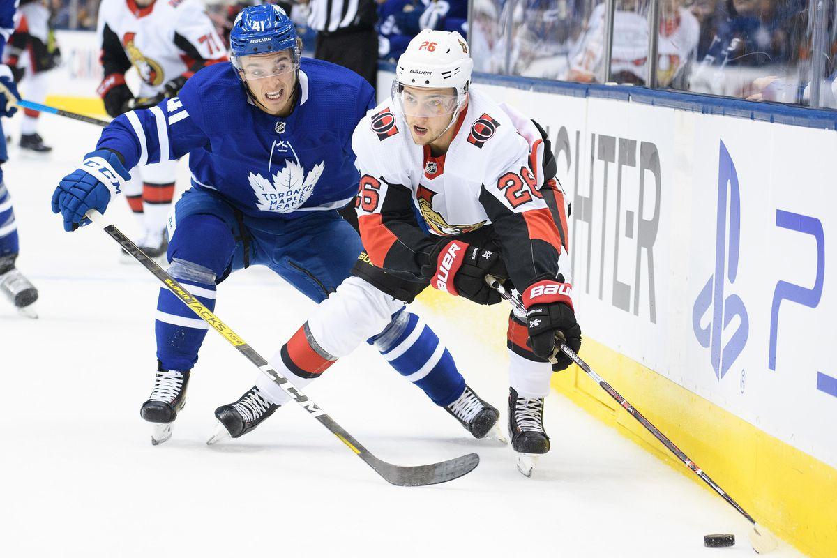 NHL: Ottawa Senators at Toronto Maple Leafs