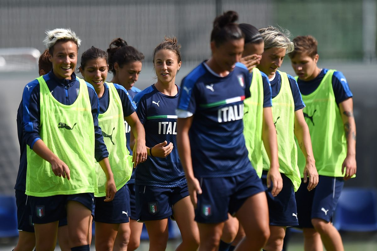 Italy Women Training Session And Press Conference
