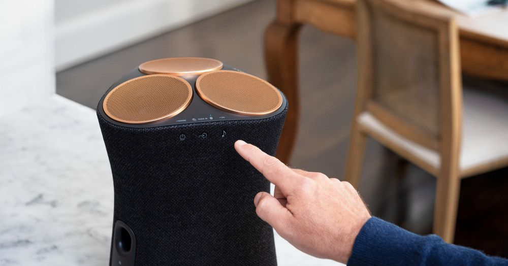 These are Sony's first 360-degree audio speakers