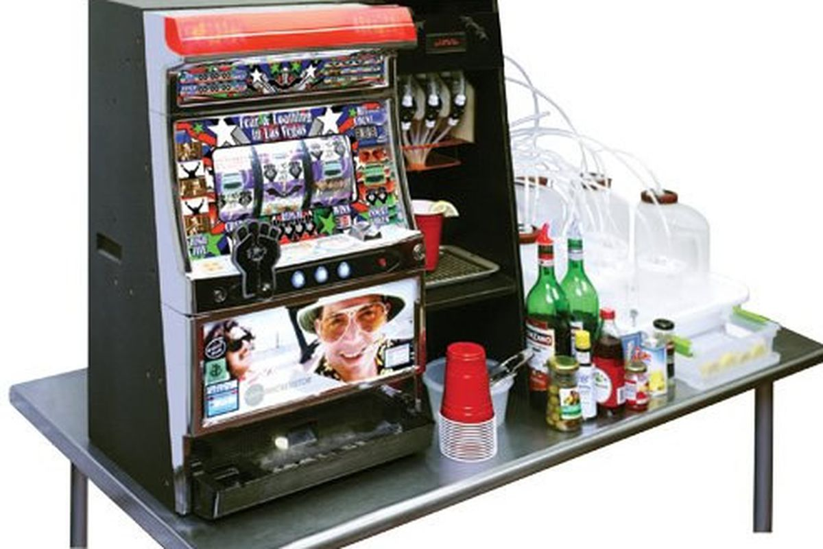 Slot Machine Robot Pays Out Drinks Mixed Up At Random Eater
