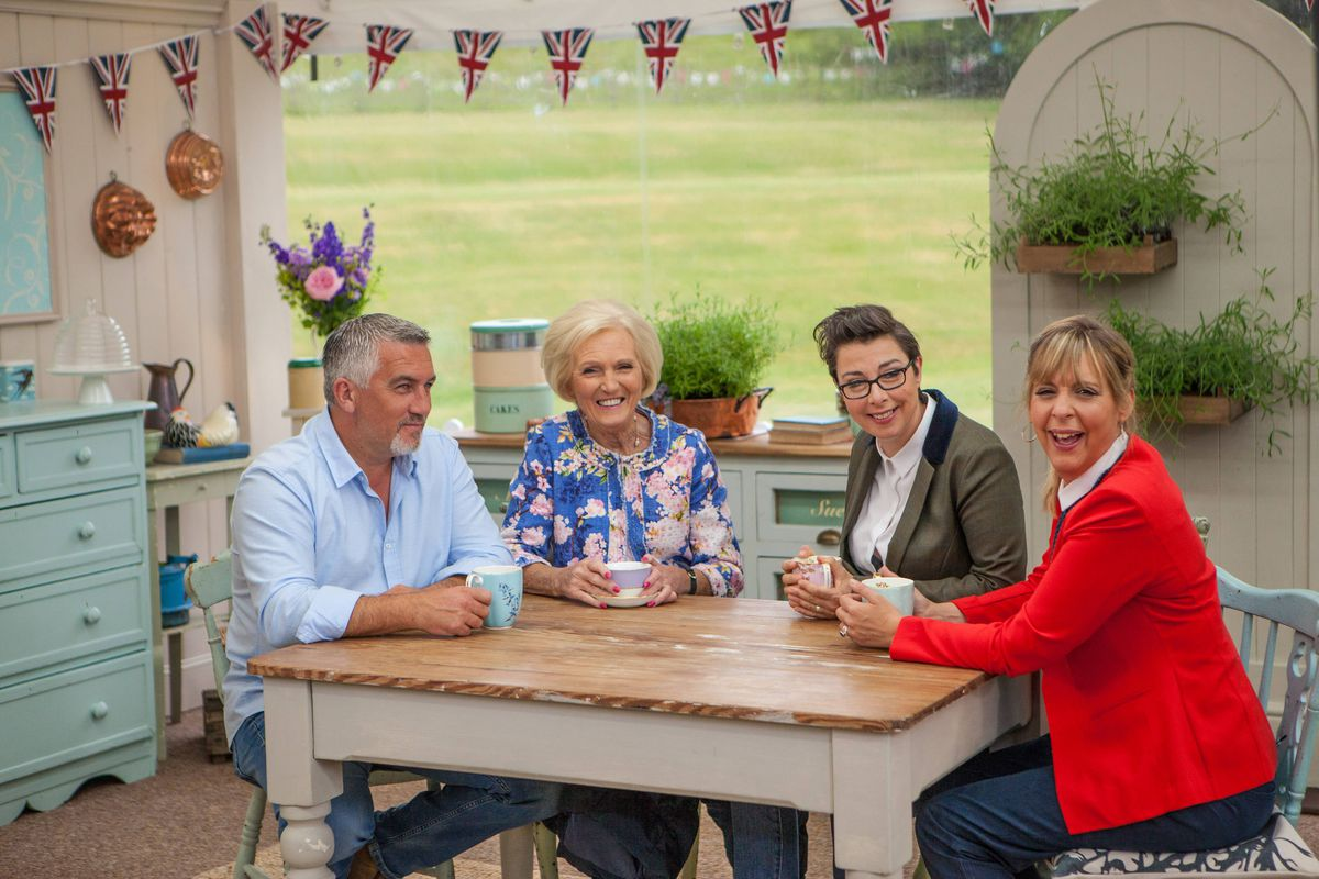 The Great British Baking Show And Value Of Small Stakes Vox Flower Val Pouch Kuning Look How Happy Mary Sue Mel Are To See You Also Theres Paul Hollywood Pbs