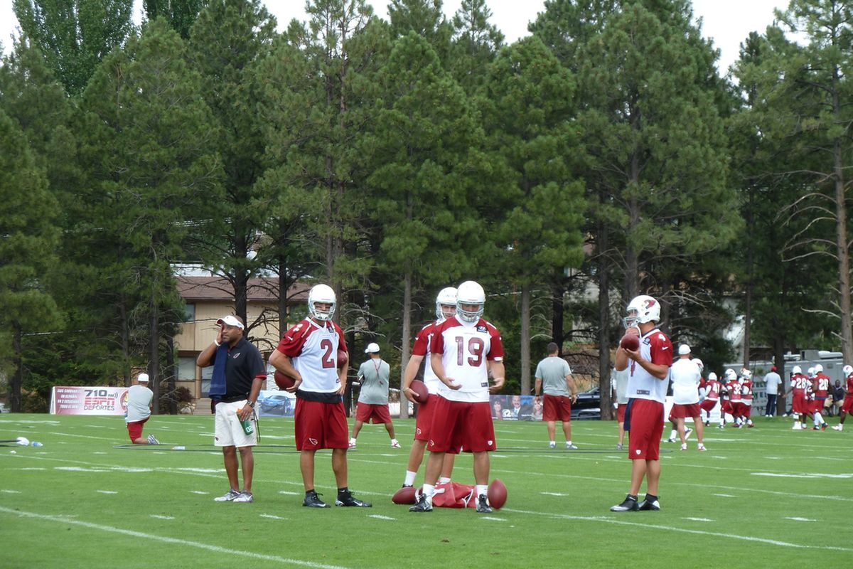 Arizona's four QBs at work in Flagstaff during training camp
