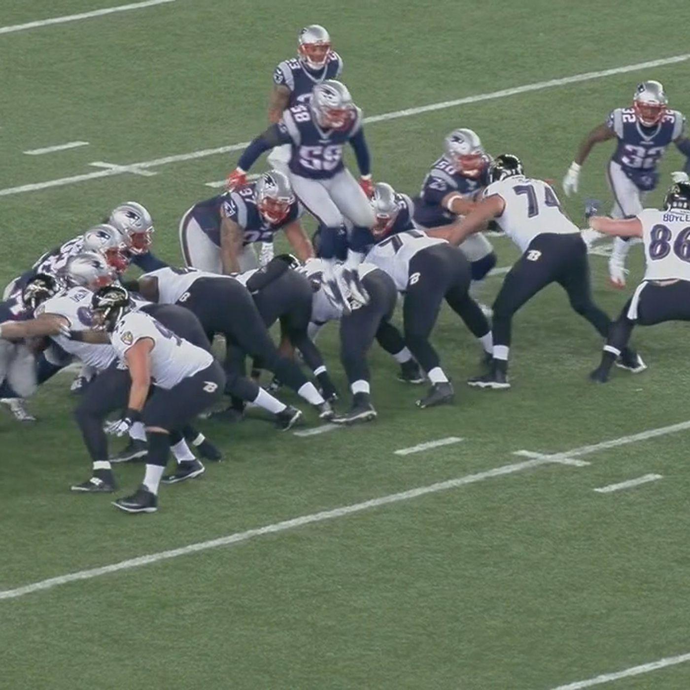 126dbd485187 Shea McClellin leaps over everybody to block a field goal in Ravens vs.  Patriots - SBNation.com
