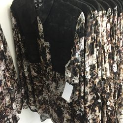 Andrew Marc flower shirt, $99 (was $295)