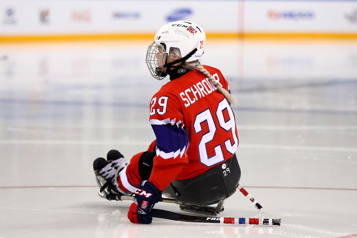 Lena Schroeder #29 of Norway at the 2018 Paralympic games