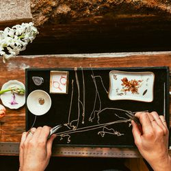 My most literal inspiration is taken from pieces of twigs, seeds, and flowers. But I'm also inspired by pieces of hardware, trinkets, and even furniture at times.