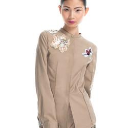 """Pin tucked scout shirt with raffa embroidery, $150 (was $595) via <a href="""" https://www.modaoperandi.com/31-phillip-lim-resort-2013/pintucked-scout-shirt-with-raffia-embroidery""""> Moda Operandi </a>"""