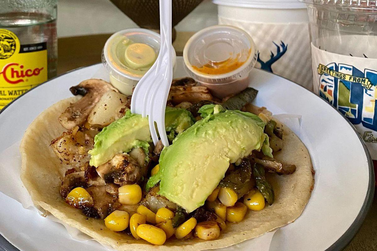 A taco at Veracruz All Natural at the Line Hotel