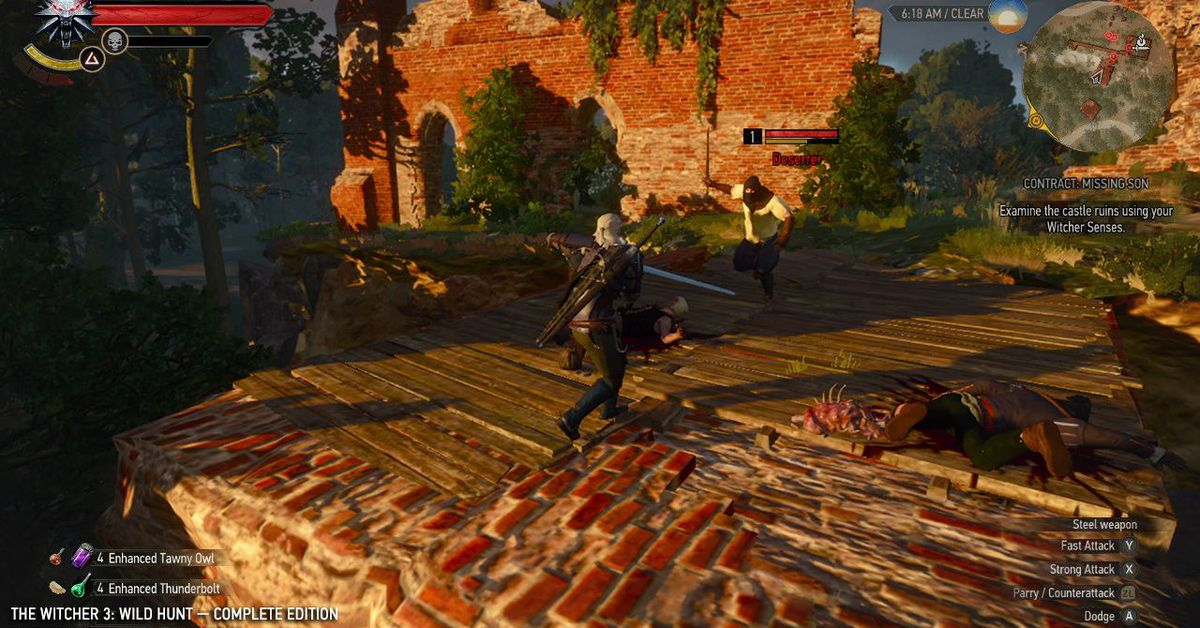 The Witcher 3 Switch update adds PC cross-save, new graphics options