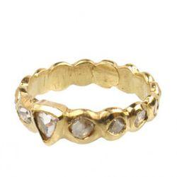 Elisa Solomon 18k thick rosecut diamond band, $3240