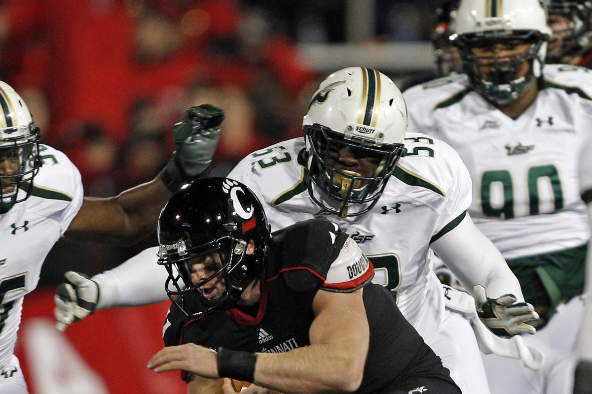 Derrick Calloway should get some playing time along with Elkino Watson (53) and James Hamilton (90) at defensive tackle.