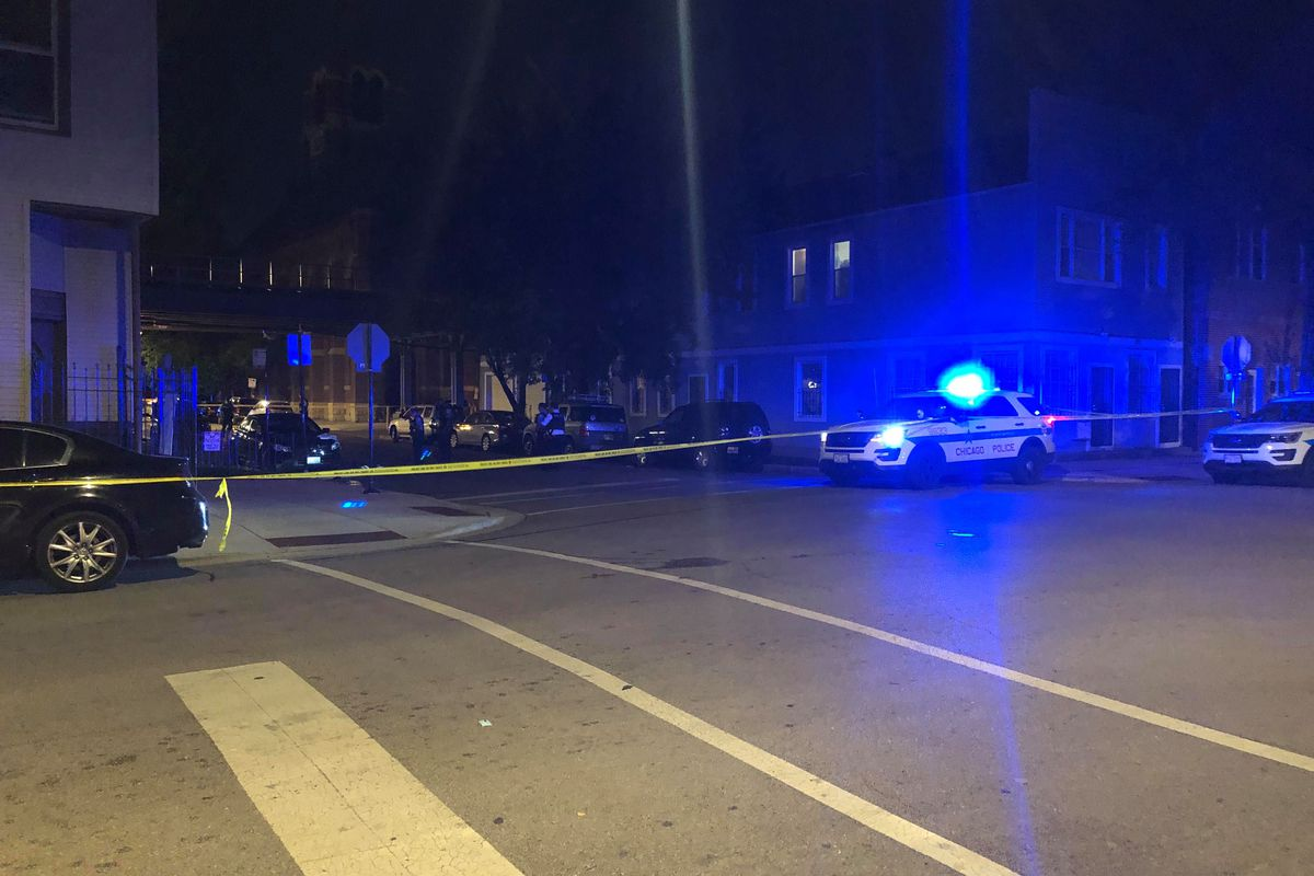 Chicago police investigate the scene where a boy was killed and three others were wounded Sept. 24, 2019 in Heart of Chicago.