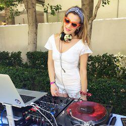 DJ Chelsea Leyland bringing the beats at Revolve.