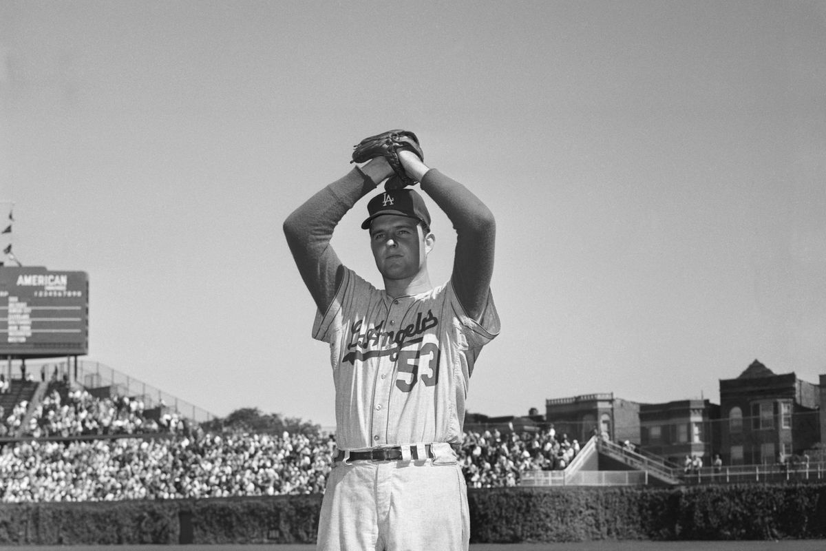 Don Drysdale in Pitching Stance