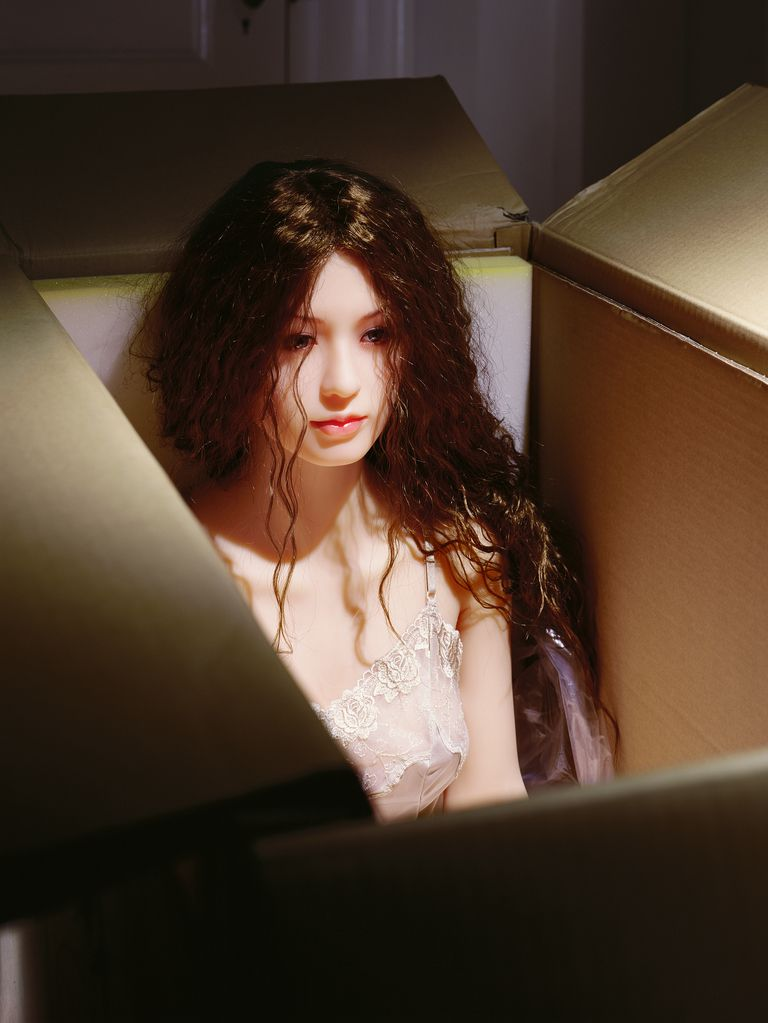 """Laurie Simmons, """"The Love Doll/Day 27/Day 1 (New in Box),"""" 2010.   © Laurie Simmons, courtesy of the artist and Salon 94."""