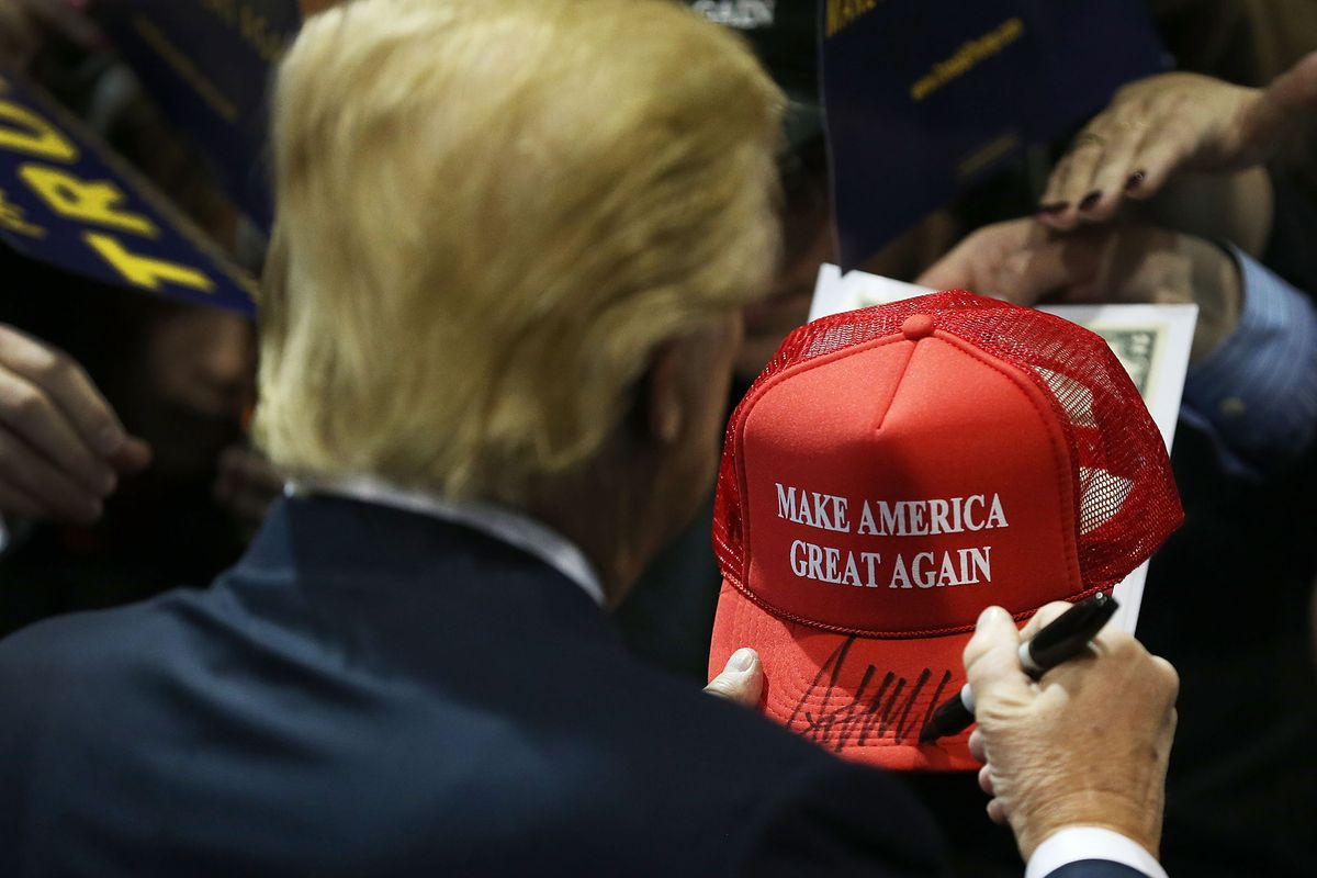 c04d06ce4784d Woman s  America Was Never Great  Hat Isn t the Only Trump Parody Out There
