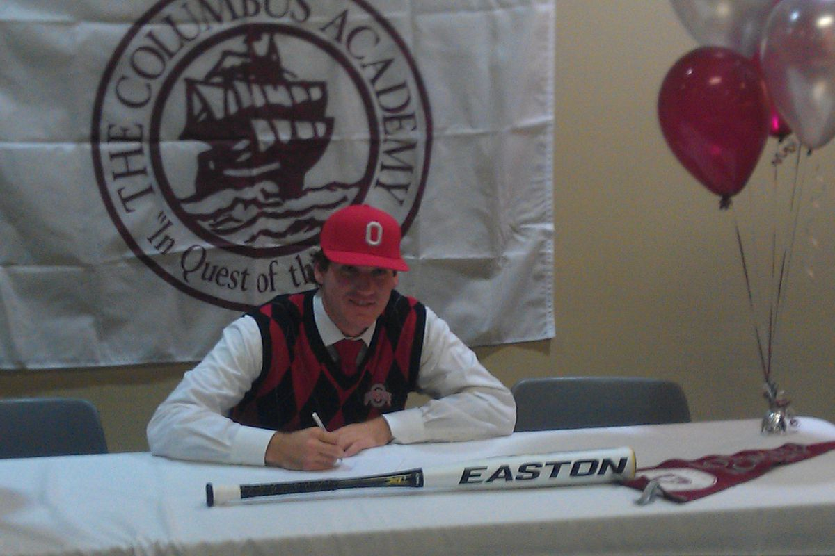 Longtime Friends Look To Lead Hometown Ohio State Baseball Back Webb Fuel Filters A Columbus Native Ratcliff Signing His National Letter Of Intent While Attending Academy Chris