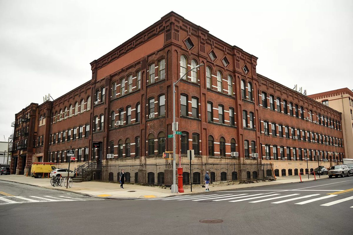 A four story red brick building that once served as a hub of manufacturing in Gowanus.