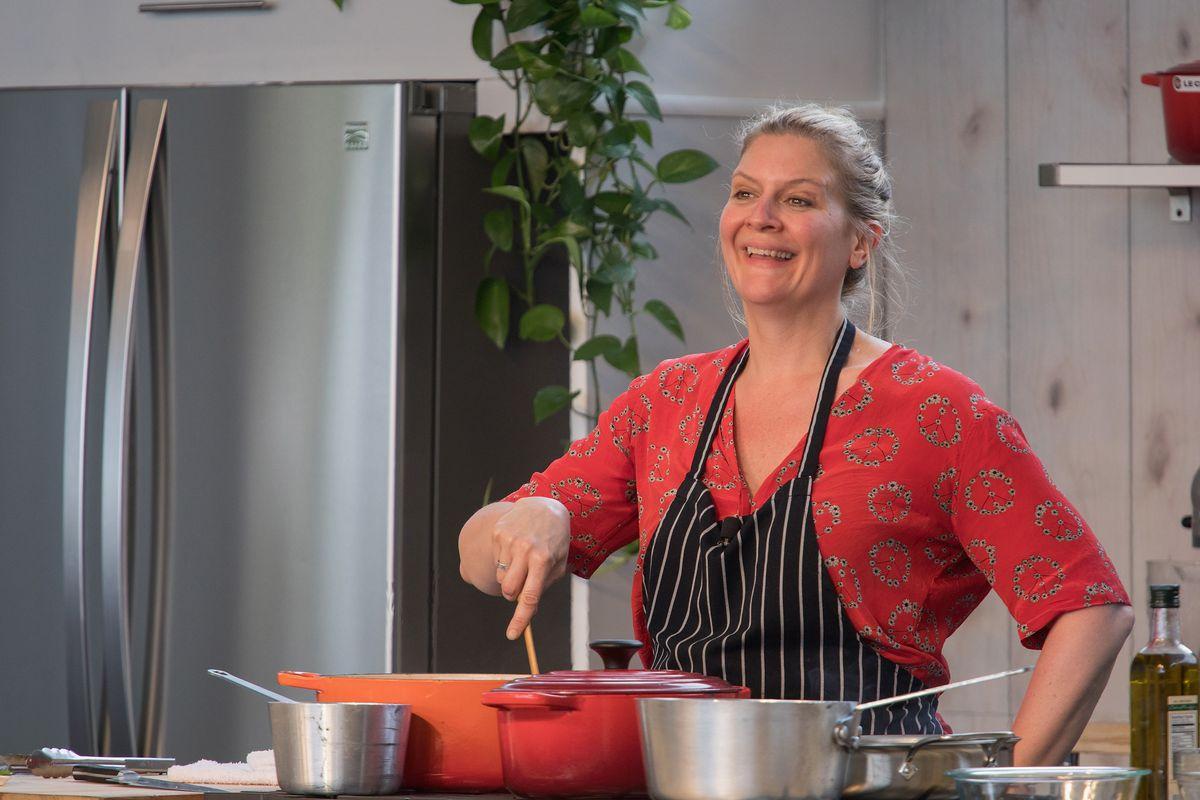 Chopped judge Amanda Freitag at the Austin Food & Wine Festival in 2018