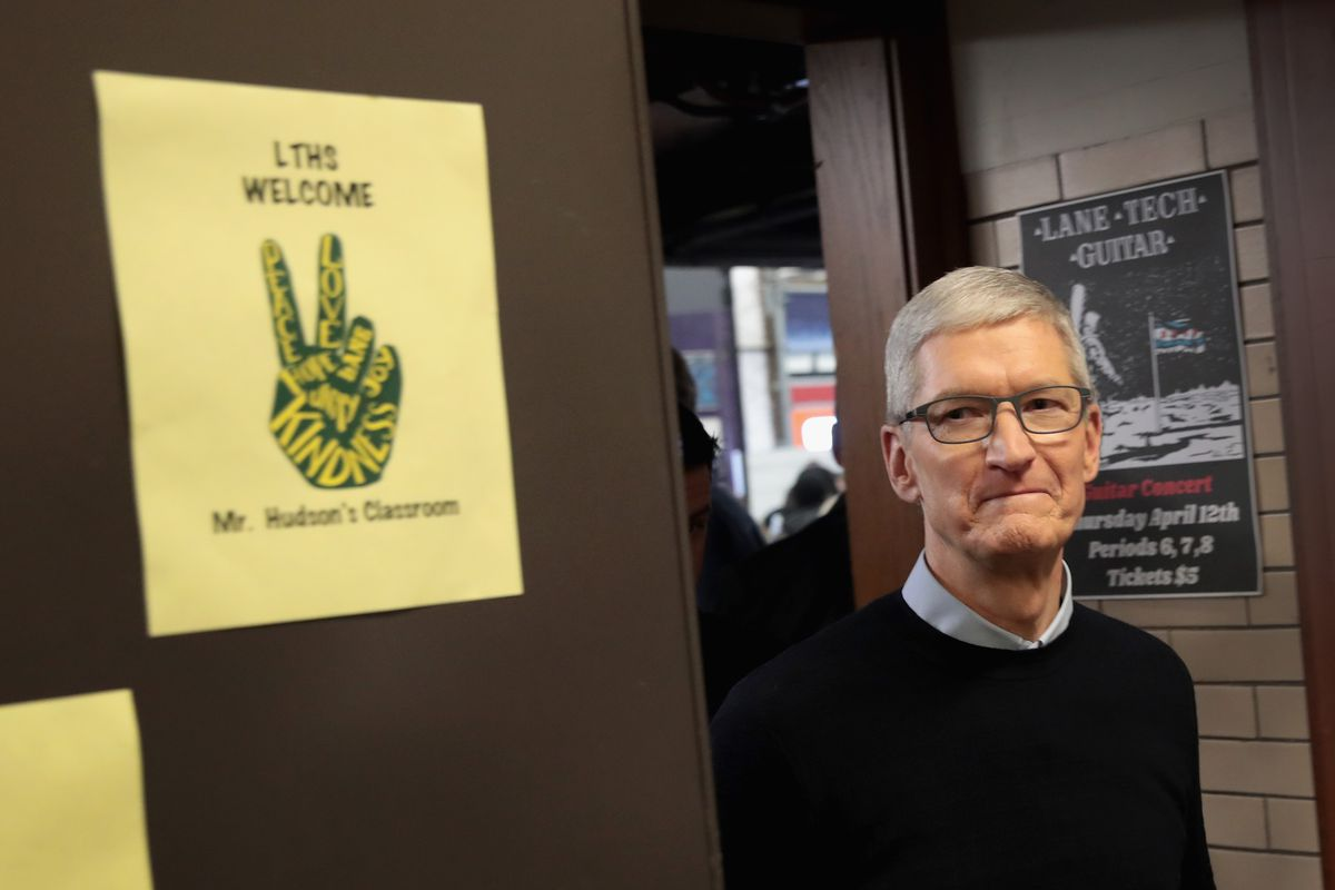 Tim Cook casts corner-office shade on Mark Zuckerberg