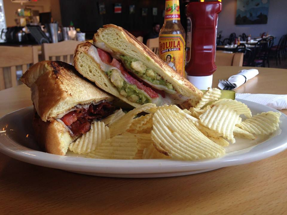 Grilled cheese at Trident Booksellers & Cafe