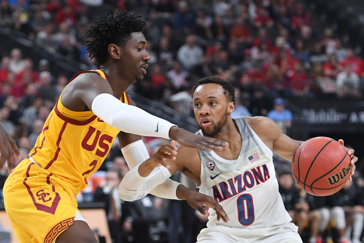 The Arizona Wildcats and USC Trojans play in the 2018 March Madness tournament.