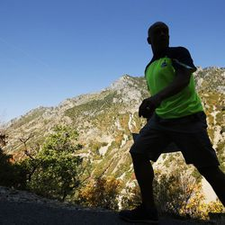 Keenan Adcock, 51, hikes the Timpanogos Cave National Monument trail for the 100th time this season on Wednesday, Aug. 31, 2016, in American Fork. Adcock underwent open-heart surgery to replace an aortic valve. The 1 ½ mile trail ascends 1,000 feet to the cave entrance.