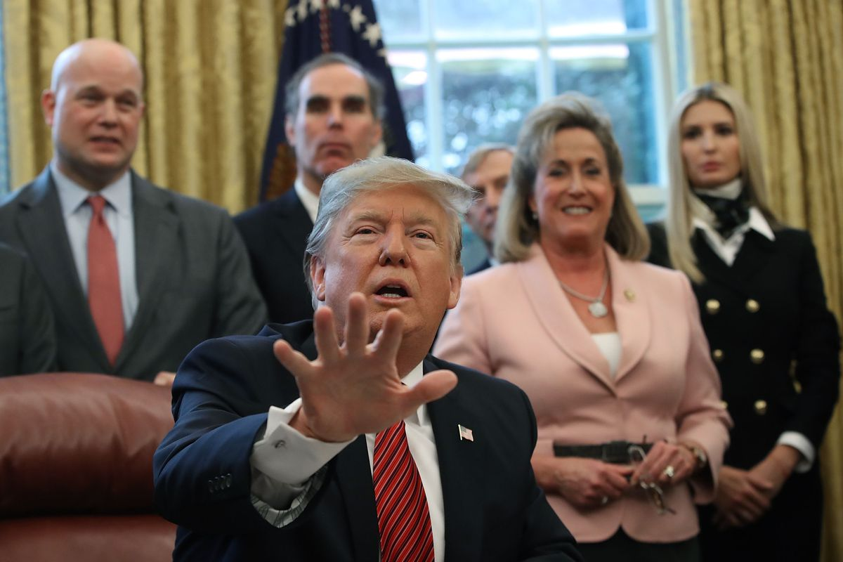President Trump Participates In Signing Ceremony For Anti-Human Trafficking Legislation In The Oval Office
