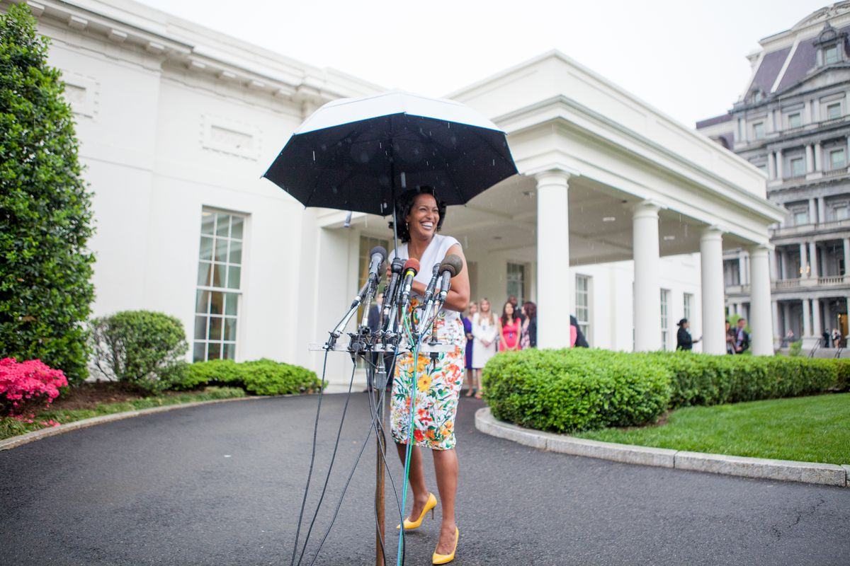 2016 National Teacher of the Year Jahana Hayes answers questions from reporters after being honored at the White House.  (Photo by Cheriss May/NurPhoto via Getty Images)