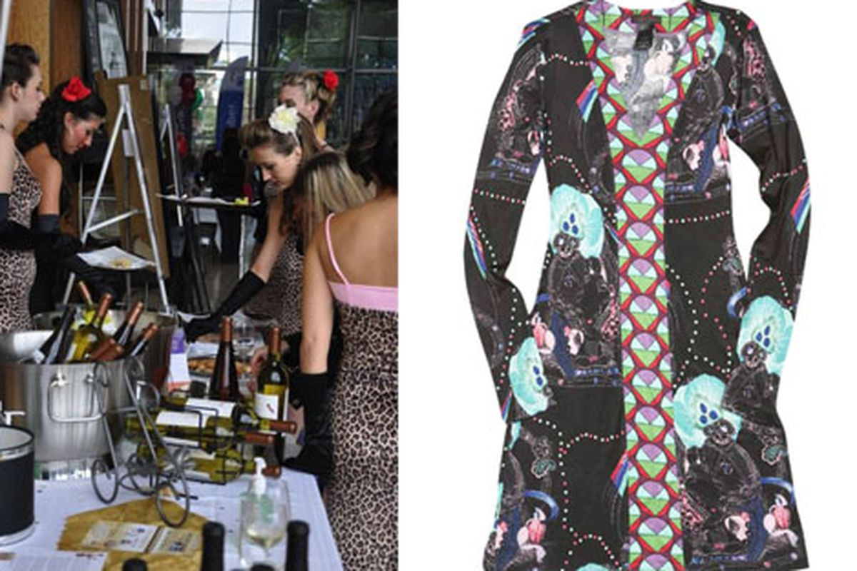 Image at left, of previous Design4aCure event, courtesy of Azucena Varela; image at right Custo Barcelona