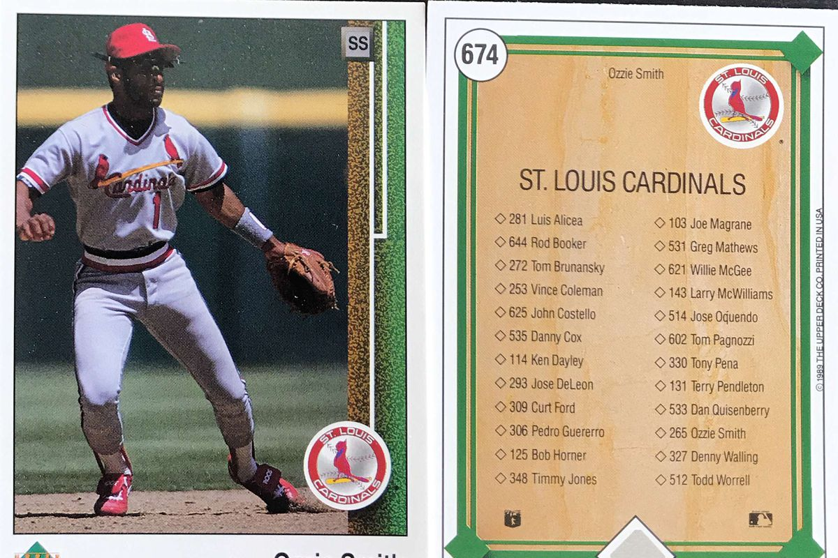 The St Louis Cardinals Of The 1989 Upper Deck Set Viva El