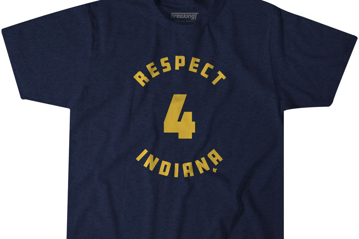 """the latest 113c7 ea8b9 Fresh """"Respect Indiana"""" Pacers t-shirt from BreakingT - Indy ..."""