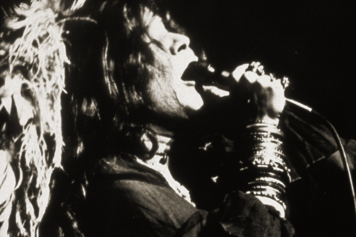 Janis Joplin performing in 1970 at the Ravinia Festival in Highland Park.