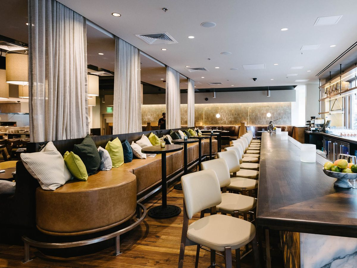 Avelina's upscale modern dining room