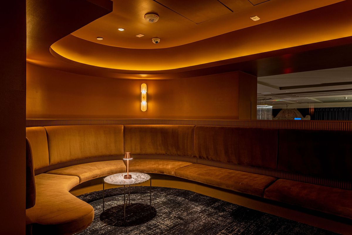 Intercrew's circular lounge in Koreatown, Los Angeles