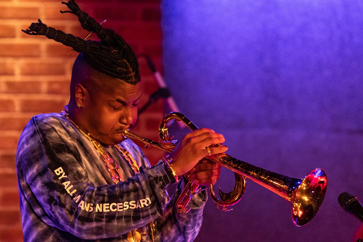 Christian Scott aTunde Adjuah performs at City Winery in Washington, D.C.